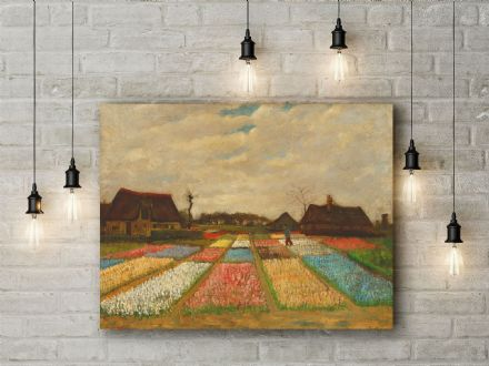 Vincent van Gogh: Flower Beds in Holland. Fine Art Canvas.